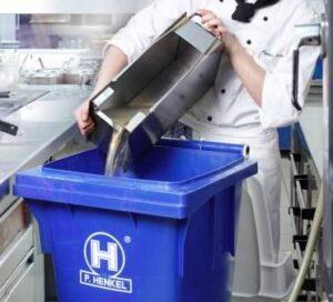 Used cooking oil wheel bin